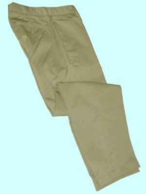 Lands End Khaki Plain Front School Uniforms Pants Boys 20 NEW $30