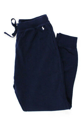 Polo Ralph Lauren Mens Navy Blue Thermal Tie Waist Lounge Pants Size Medium