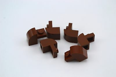 Lego 1x2x1 1//3 Brick with Curved Top Tan Lot of 6 New