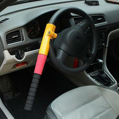 Universal Heavy Duty Anti Theft Car Van Steering Wheel Lock Security Crook Lock