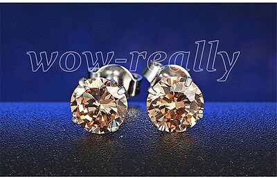 Unisex Mens and Womens  SILVER Stud Earring Diamond  Gift