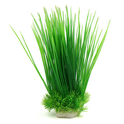 Green Plastic Aquarium Fish Tank Decorative Grass Plant Underwater Ornament
