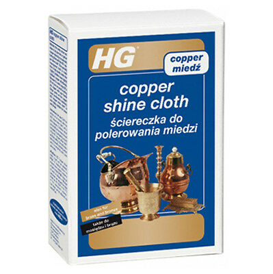 HG Copper Shine Cloth Copper, Bronze and Brass Cleaning and Polishing Cloth