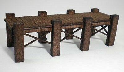 EXPO 95862 OO GAUGE WOODEN JETTY KIT x 2 LASER CUT SUIT 1:76 1:72 SCALE DIORAMA