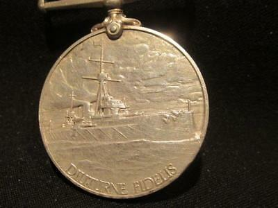 Royal Naval Reserve 1908 Long Service & Good Conduct Silver Medal Named