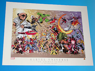 Marvel Universe Lithograph The Golden Years Limited Edition Michael Golden