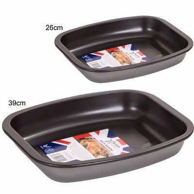 "Carbon Steel ROASTING TRAY Small 10"" / Large 15.5"" NON STICK Roaster Pan Tin"
