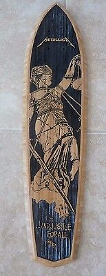 Metallica  In Justice 4 All Limited Edition Skateboard Deck Only 250 Made # 130