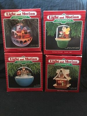 Lot x4 Vintage Hallmark Light and Motion Christmas Ornaments Village Express ETC • $9.90