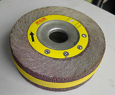 "6-in Abrasive Flap sanding Wheel 6""x1""x1"" A/O 80 Grit Unmounted"