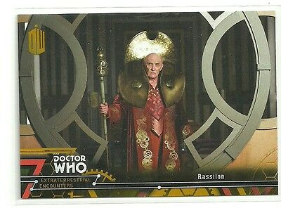 Topps Doctor Who Extraterrestrial Encounters # 28 Rassilon Gold Parallel 1 / 1