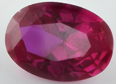 LARGE 14x10mm OVAL-FACET TOP-RED RUBY GEMSTONE