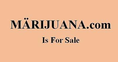 MÄRIJUANA dot com Domain Name is For Sale