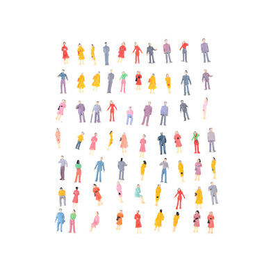 100Pcs Mini HO Scale 1:100 Painted Model People Mix Painted Model  Figures NEW!