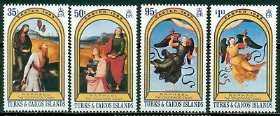 Turks & Caicos Islands Scott #559-562 MNH Easter 1983 CV$3+