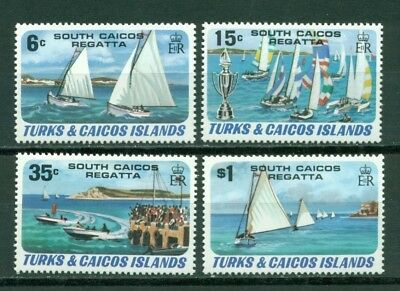 Turks & Caicos Islands Scott #463-466 MNH Racing Yachts $$