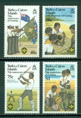 Turks & Caicos Islands Scott #512-515 MNH Scouting Year CV$5+