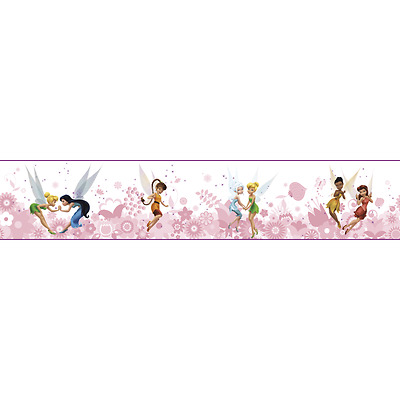 Pink Disney Fairies with Tinker Bell on Sure Strip Wallpaper Border DS7770BD