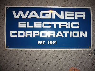 Porcelain Sign WAGNER ELECTRIC CORPORATION VERY GOOD CONDITION