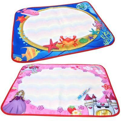 Water Drawing Painting Writing Mat Board Magic Pen Doodle Kids Toy Gift HOT - S