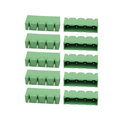 10 Pcs LZ1V 7.62mm Pitch 4P PCB Mounting Terminal Block Wire Connector