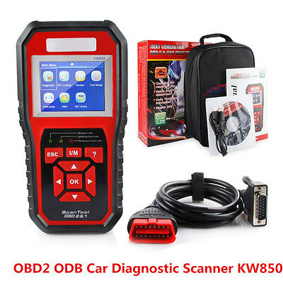 Portable OBDII OBD2 Car Auto Truck TFT Colorful Display Diagnostic Scanner Tool