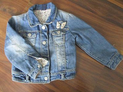 Girls ZARA BABY pretty denim jacket coat 12-18 months VGC