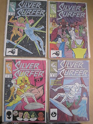 SILVER SURFER issues 1,2,3,4. Englehart, Rogers etc. Vol 3, 1987 MARVEL SERIES