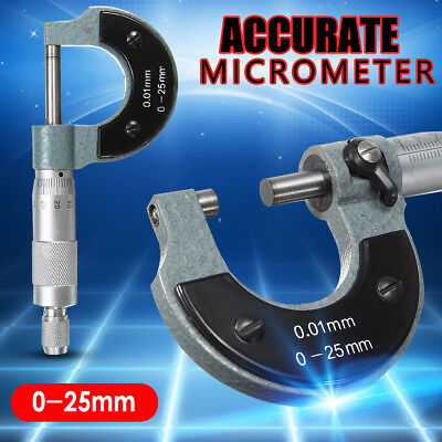 0-25mm Outside External Metric Gauge Micrometer Machinist Meature Equipment Case
