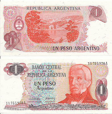 Argentinien / ARGENTINA - 1 Peso 1983 UNC - Pick 311, Serie A