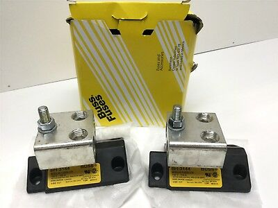 "Lot of 2 (Pair) Bussmann BH-3144 Modular Fuseblocks 700V, 700A, 7/16""-14 Studs"