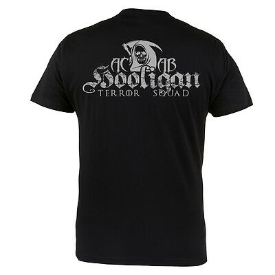 T-Shirt Hooligans Terror Squad Always Carry A Bibble 100% Cotton Black Casual