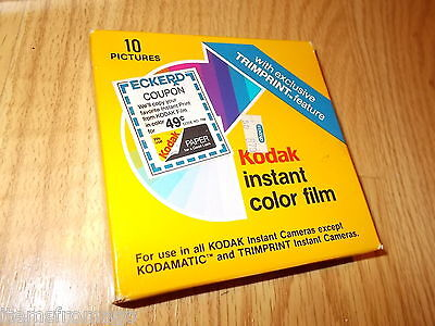 Kodak Instant Color Film PR 144-10 New Old Stock In Box 10/1985