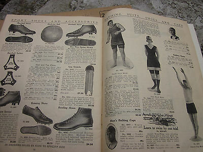 Vintage 1922 Sporting Goods Mens Clothing Army Camper Store Catalog Beach Jacket