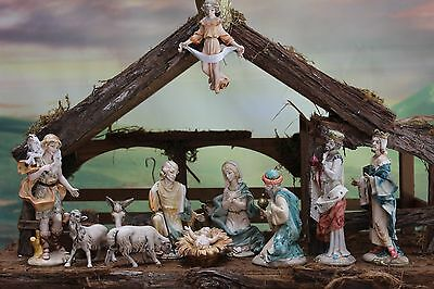 "6"" Fontanini NATIVITY SET Depose Italy HOLY FAMILY, KINGS,ANIMALS++ FREE SHIP"