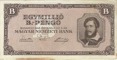1946 1 One Quintillion Pengo Hungary Currency Banknote Note Money Bank Bill Cash
