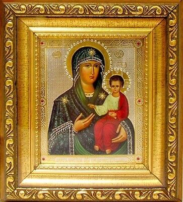 Madonna & Child Russian Icon Virgin Mary Christ Jesus