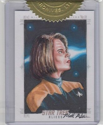 Star Trek Aliens - Matt Glebe Sketch Card 9-Case Incentive