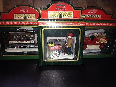 Set of 3 Town Square Collection Coca-Cola Figurines - All MIB