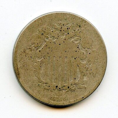 1866 Shield Nickel ~ Almost Good ~ *hucky*