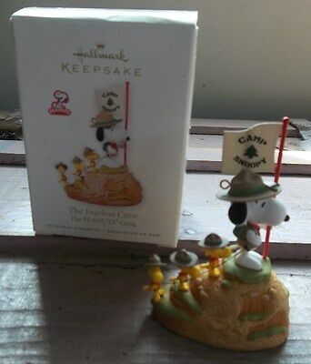 PEANUTS CAMP SNOOPY Hallmark Keepsake Ornament The Fearless Crew SCOUTING New