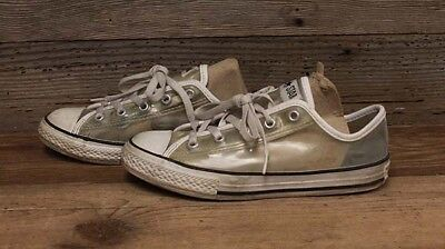 Converse Girls/Youth Clear All Star Tennis Shoes sz 3