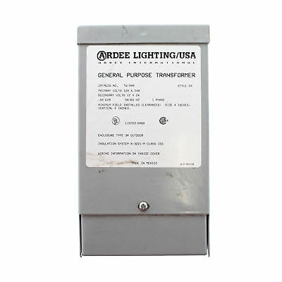 Ardee Lighting Tw-500 General Purpose Transformer 120/240Vac To 12/24Vac, 3R, 1Y