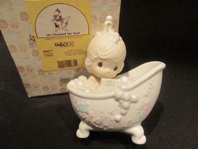 He Cleansed My Soul 1985 Precious Moments Figurine  #100277 with Box