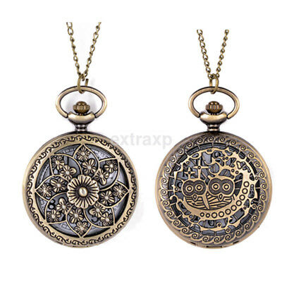 Bronze Full Face Mens Womens Small Pocket Watch Retro Antique Steampunk UK