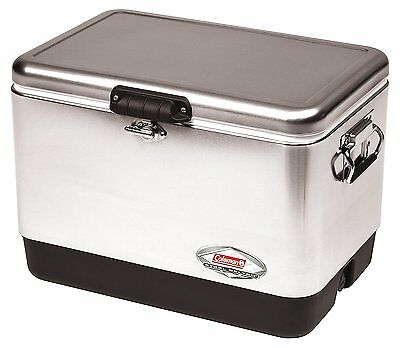 Coleman 54 Quart Stainless Steel Belted Cooler FREE SHIPPING!