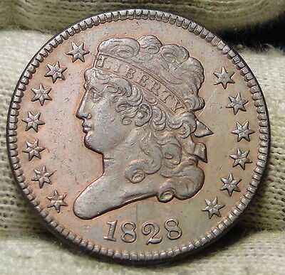 1828 Classic Head Half Cent - Very Nice Coin, Free Shipping (6406)