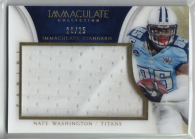 2014 Immaculate Collection Immaculate Standard #ISNW Nate Washington #20/25