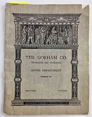 1939 antique GORHAM SILVER CATALOG PROPOSAL hotel department jewelry store ad
