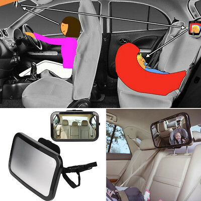 Large Car Baby Seat Mirror Inside View Back Safety Rear Ward Facing Child Mirror